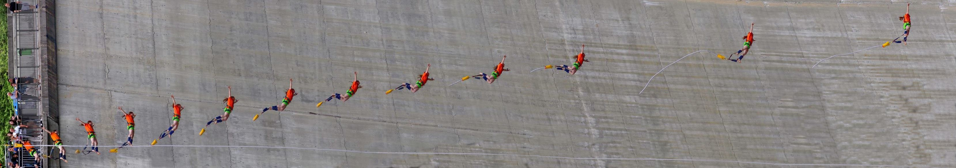 my bungee jump in the Verzasca valley, Ticino on my 35th birthday